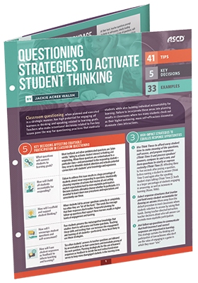Questioning Strategies to Activate Student Thinking (Quick Reference Guide)