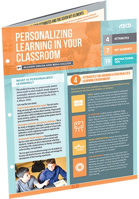 Personalizing Learning in Your Classroom (Quick Reference Guide)