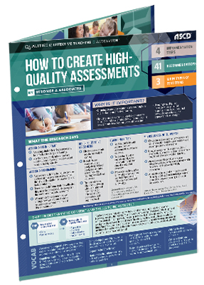 How to Create High-Quality Assessments (Qualities of Effective Teaching- Quick Reference Guide)
