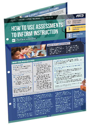 How to Use Assessments to Inform Instruction (Qualities of Effective Teaching- Quick Reference guide)