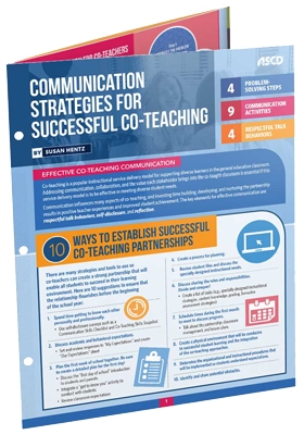 Communication Strategies for Successful Co-Teaching (Quick Reference Guide)