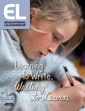 Educational Leadership April 2018 Learning to Write, Writing to Learn