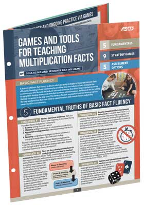 Games and Tools for Teaching Multiplication Facts (Quick Reference Guide)