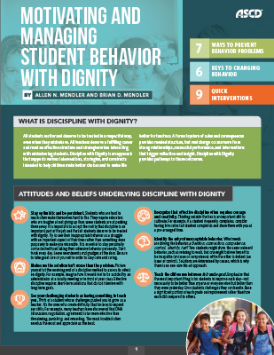 Motivating and Managing Student Behavior with Dignity (Quick Reference Guide)
