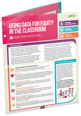 Using Data for Equity in the Classroom (Quick Reference Guide)