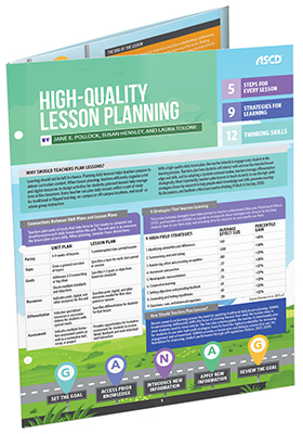 High-Quality Lesson Planning (Quick Reference Guide)