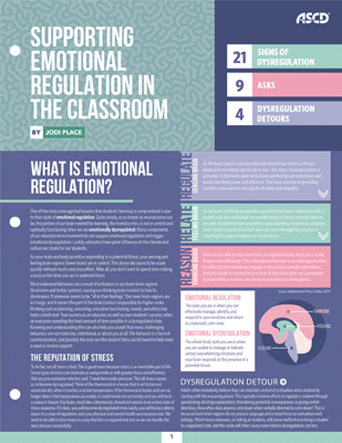 Supporting Emotional Regulation in the Classroom (Quick Reference Guide)